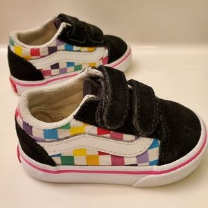 Toddler Colorful Checkered Vans - Size 4
